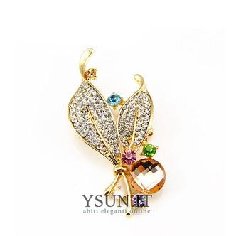 Commercio all'ingrosso donne intarsiato di stile di diamante nuovo cristallo Pin spilla - Pagina 1