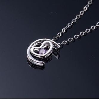 Argento a forma di cuore di placcatura decorazione Hot vendita collana pendente - Pagina 4