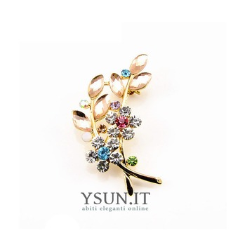 Vendita calda donne accessori cristallo foglia spilla di diamanti intarsiati - Pagina 1