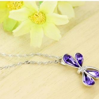 Donne di cristallo viola argento fornire all'ingrosso collana & Ciondolino Libellula - Pagina 4