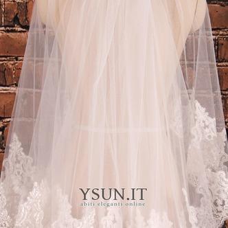 Velo corto in pizzo doppio strato con pettine per capelli accessori da sposa velo da sposa da sposa - Pagina 2