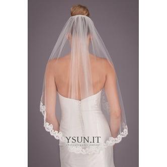 Velo di pizzo a strato singolo Accessori da sposa velo da sposa corto da 1,5 metri - Pagina 1