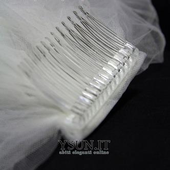 Velo da sposa Formale Bianco Con il pettine Inverno Lungo Pizzo francese - Pagina 2