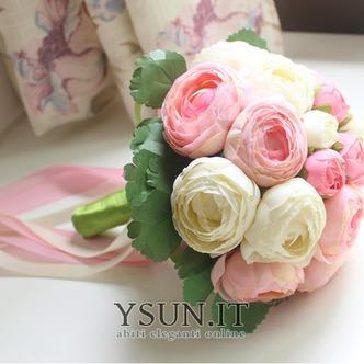 Bouquet di fiori a mano semplice diamante perla atmosferica una matrona d'onore - Pagina 2