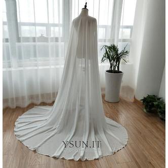 Scialle in chiffon scialle semplice da sposa scialle elegante lungo 2M - Pagina 5