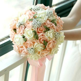 Mazzo di fiori 30 della sposa che tiene matrimonio damigella d'onore rosa champagne fiore - Pagina 1