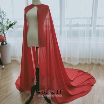 Scialle in chiffon scialle semplice da sposa scialle elegante lungo 2M - Pagina 3