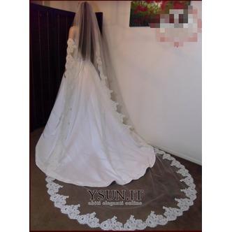 Velo da sposa in pizzo Lungo Primavera Pizzo Bianco Lungo - Pagina 1