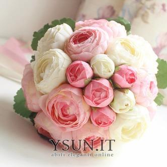 Bouquet di fiori a mano semplice diamante perla atmosferica una matrona d'onore - Pagina 1