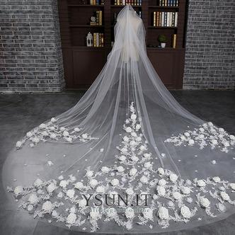 Sposa velo retrò matrimonio finale velo lungo velo di fiori - Pagina 1