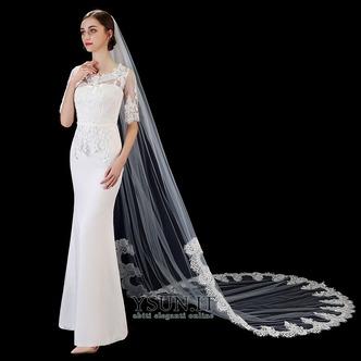 Velo da sposa bianco avorio puro velo da sposa di fascia alta in pizzo applique lungo 3 metri accessori da sposa velo - Pagina 3