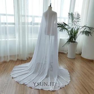 Scialle in chiffon scialle semplice da sposa scialle elegante lungo 2M - Pagina 4