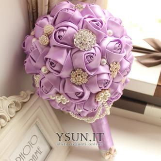 Tema viola personalizzato di High-end wedding bouquet da sposa - Pagina 1
