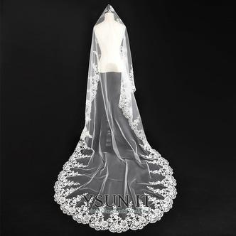 Velo da sposa Autunno Affascinante Applique Abito da sposa dea Bianco - Pagina 4