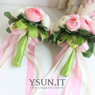 Bouquet di fiori a mano semplice diamante perla atmosferica una matrona d'onore - Pagina 4