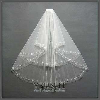 Velo da sposa Lungo Breve moda Con il pettine bordo tornito Multi Strati - Pagina 4