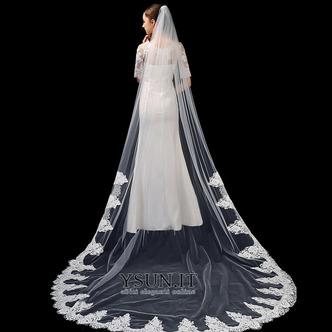 Velo da sposa bianco avorio puro velo da sposa di fascia alta in pizzo applique lungo 3 metri accessori da sposa velo - Pagina 1