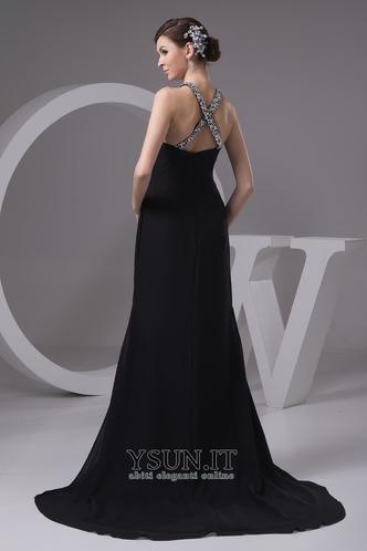 Vestito lungo nero Mezza Coperta Naturale bordo rialzato foglia guaina - Pagina 2
