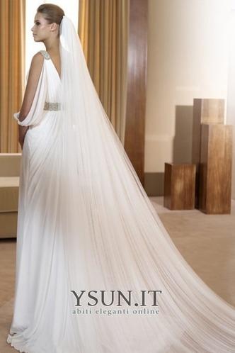 Abito da sposa Vintage all'aperto Mezza Coperta Scollo a v V Bianco - Pagina 2