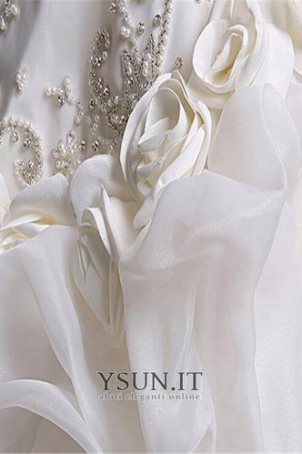 Abiti da sposa pickups senza spalline Organza ambra Naturale A-Line - Pagina 6