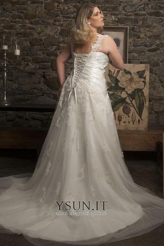 Abito da sposa moda Cuore Applique Tulle Lungo A-Line - Pagina 2