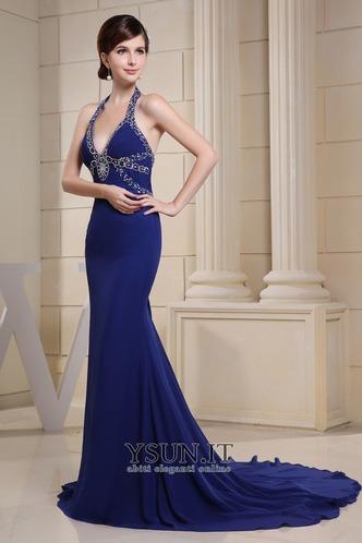Abito da sera moda Chiffon Perline Sirena Anello unbacked - Pagina 4