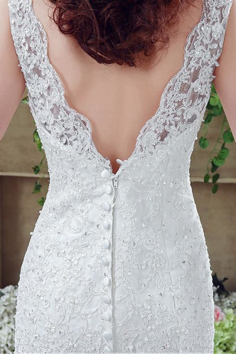 Abito da sposa Vintage Lace Coperta Gonna lunga Pizzo francese Schiena Nuda - Pagina 6