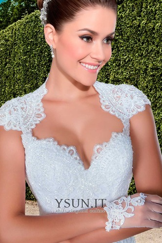 Abito da sposa moda Queen Anne Maniche Corte All Aperto Naturale Gonna lunga - Pagina 3