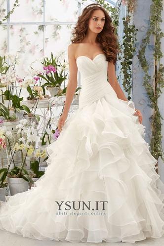 Abito da sposa collo Sweetheart Ball Gown Lungo Naturale Allacciato - Pagina 1