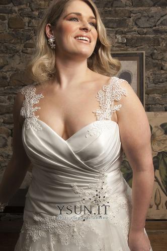 Abito da sposa moda Cuore Applique Tulle Lungo A-Line - Pagina 3