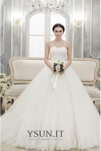 Abito da sposa senza spalline Non Specificato Lungo Farfalla Ornamento - Pagina 1