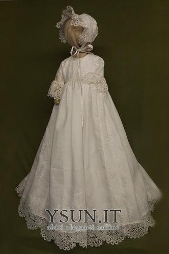 Abito cerimonia bambina decorato Lanterna Pizzo francese Bottone Principessa - Pagina 1