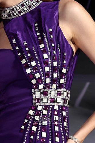 Abito da ballo Mezza Coperta Perline Magro Raso Asimmetrici Asimmetrico - Pagina 5
