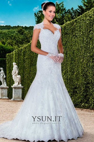 Abito da sposa moda Queen Anne Maniche Corte All Aperto Naturale Gonna lunga - Pagina 1