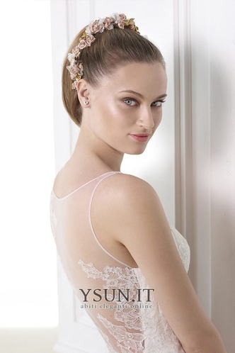 Abito da sposa all'aperto Applique Naturale Shiena Sheer V-Scollo - Pagina 3