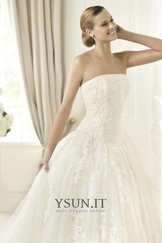 Abito da sposa Senza Maniche Ball Gown Cerniera Basque Vita senza spalline - Pagina 3