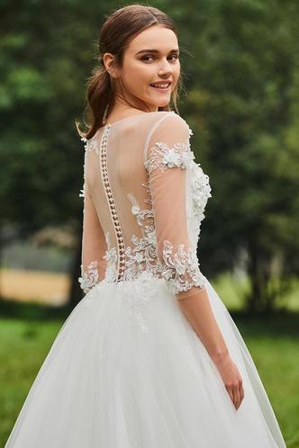 Abito da sposa Inverno Bateau trendiness all'aperto A-Line Naturale - Pagina 6