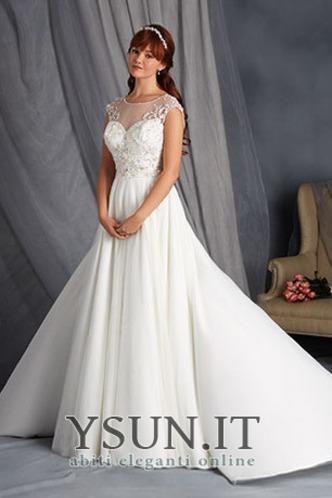 Abito da sposa A-Line decorato Naturale Applique Gonna lunga inobtrusive - Pagina  1 ... 894a094f3b6