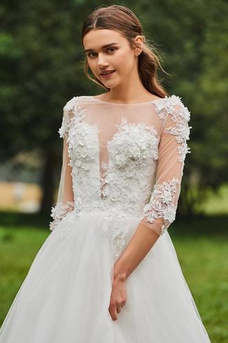 Abito da sposa Inverno Bateau trendiness all'aperto A-Line Naturale - Pagina 5