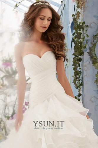 Abito da sposa collo Sweetheart Ball Gown Lungo Naturale Allacciato - Pagina 3