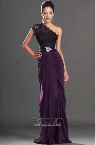 Abito da ballo foglia guaina Super monospalla Violetta africana Senza Maniche - Pagina 2