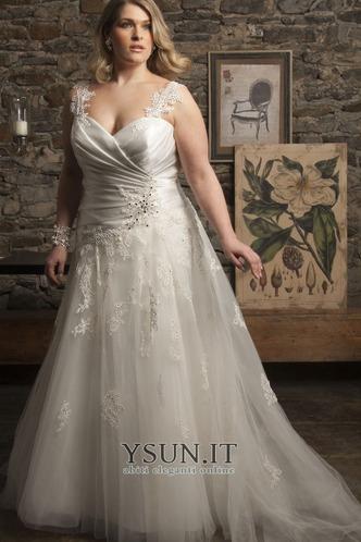Abito da sposa moda Cuore Applique Tulle Lungo A-Line - Pagina 1