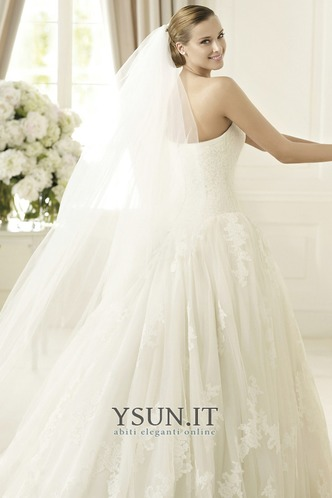 Abito da sposa Senza Maniche Ball Gown Cerniera Basque Vita senza spalline - Pagina 4