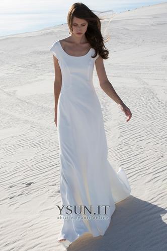 Abito da sposa Maniche Corte A-Line Shiena Sheer Applique Cappellini - Pagina 1