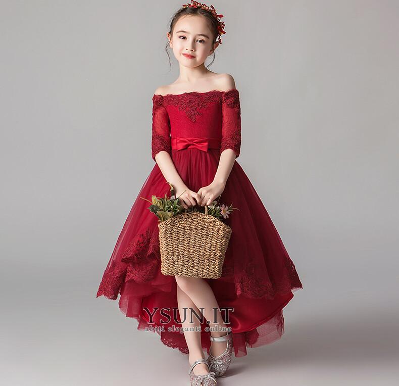 d1012735656a Abito cerimonia bambina Farfalla Ornamento Alto Basso Asimmetrici Pizzo  Asimmetrico - Pagina 1 ...