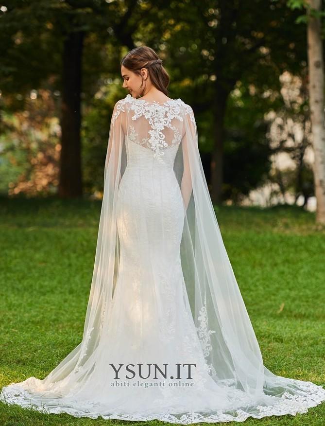 wholesale dealer 11154 32d64 Abito da sposa Sexy Shiena Sheer Con Coprispalle Raso Petite ...