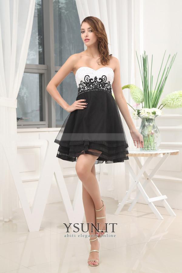 Vestiti Eleganti X 18 Anni.Abiti Per Compleanno 18 Anni Casuale A Line Corti Naturale Organza