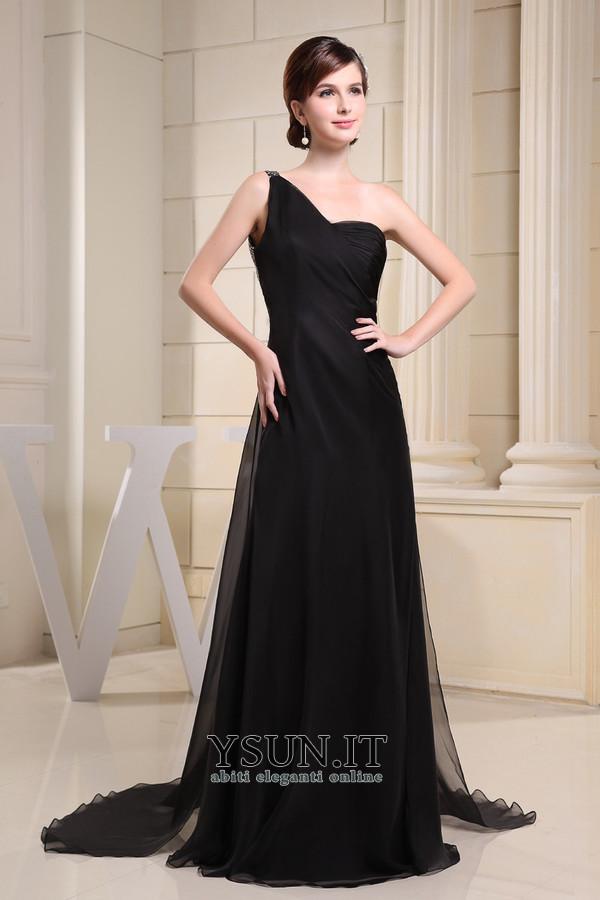 Vestito nero lungo Scollo Asimmetrico Semplici Naturale Schiena Nuda -  Pagina 1 ... 458800ddc3a