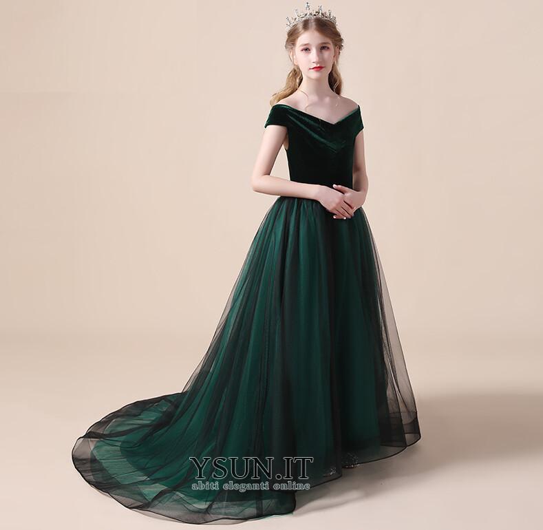 Vestiti Eleganti Semplici.Abito Cerimonia Bambina A Linea Cerniera Tipo Standard Autunno