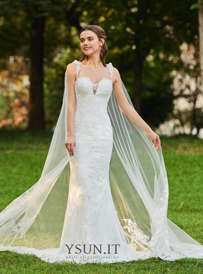 wholesale dealer 4c5b6 24758 Abito da sposa Sexy Shiena Sheer Con Coprispalle Raso Petite ...